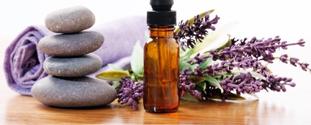 Lavender Oil and Stones for massage
