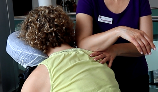 Shoulder massage – On- site massage by Essential Vitality