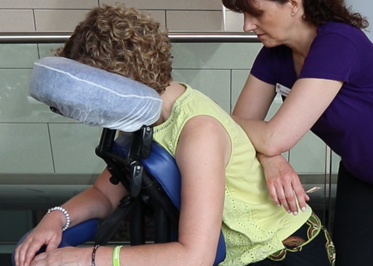 Forearm press On-Site Massage - the benefits of touch